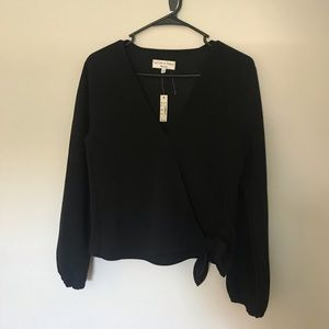 Madewell Wrap Front Top